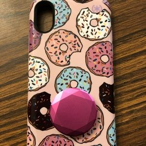 Brand New iPhone X/XS Speck Case& Used Popsocket
